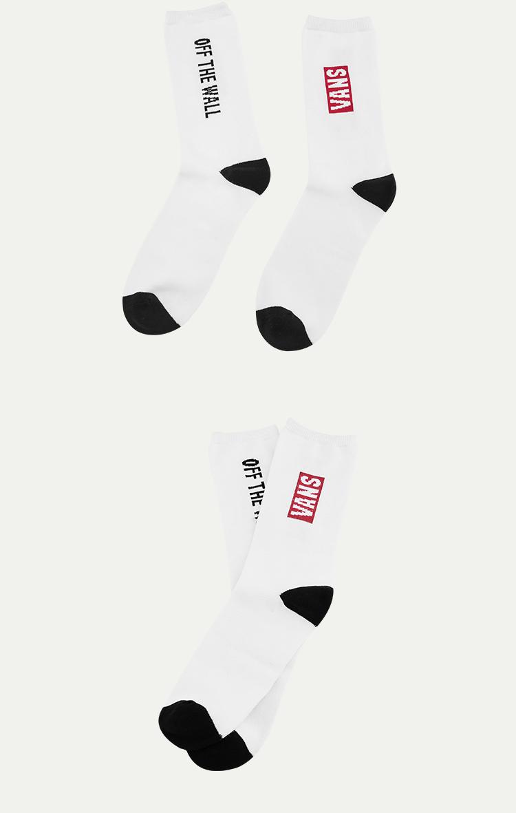 范斯AP-REDBOX-OTW-C-SOCKS男子袜子(白色)