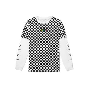 黑白棋盘格印花