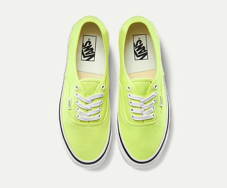 范斯AUTHENTIC-44-DX荧光绿情侣款休闲鞋帆布鞋