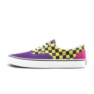 紫色/黑黄棋盘格