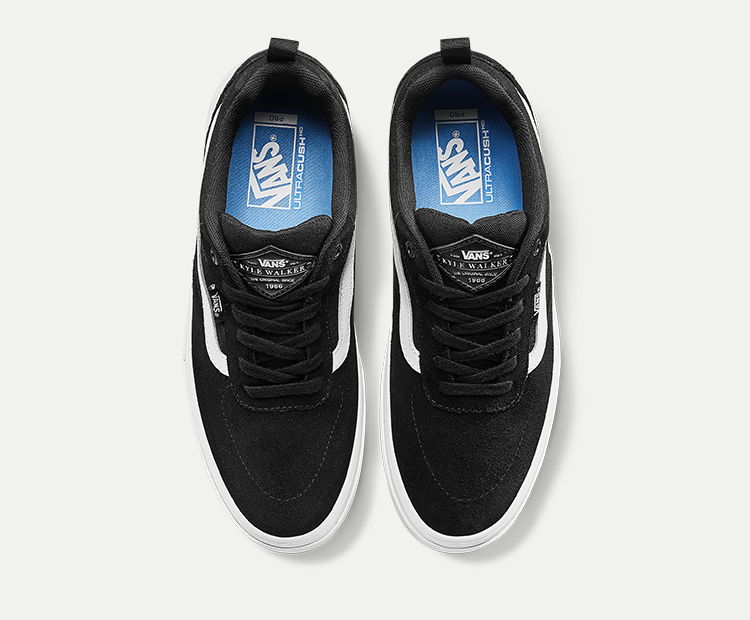 VANS(范斯)KYLE-WALKER-PRO男女款运动鞋滑板鞋(黑色/白色)