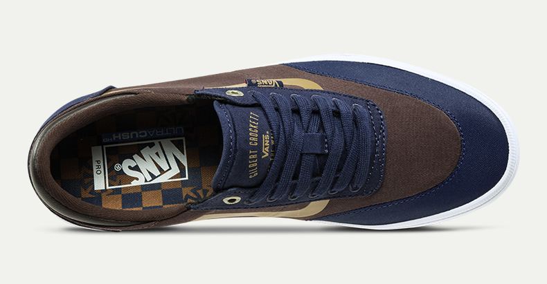 Vans滑板鞋(深蓝色,棕色)