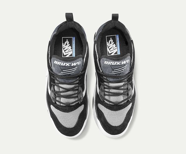 范斯BRUXWC男女同款运动鞋老爹鞋黑色