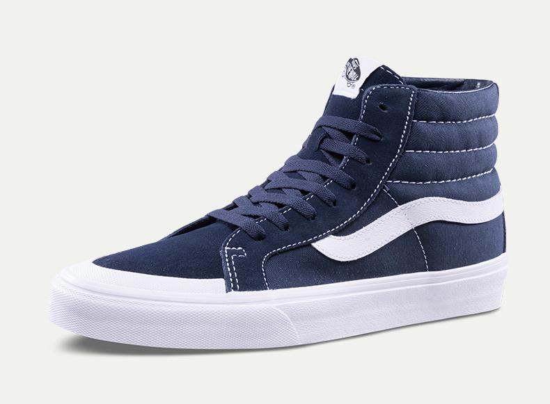 万斯SK8-HI男款女款经典款板鞋(蓝色)