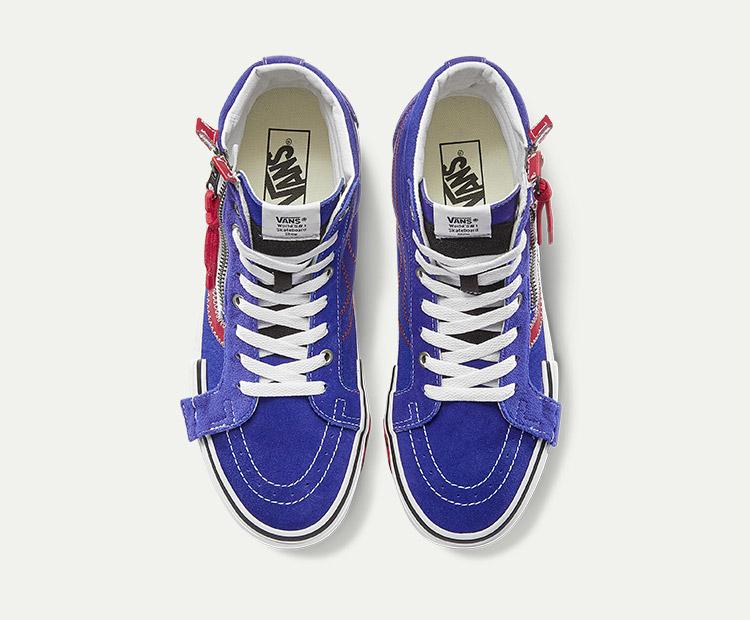 VANS(范斯)SK8-Hi-Reissue-CAP男女款板鞋(蓝色/红色)