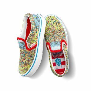 VANS X WHERE'S WALDO CLASSIC SLIP-ON中大童联名帆布鞋