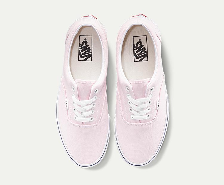 范斯Era男女同款帆布鞋板鞋粉色